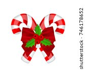 traditional christmas candy... | Shutterstock .eps vector #746178652