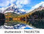 breathtaking autumn landscape... | Shutterstock . vector #746181736