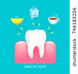 sensitive tooth to cold  sour... | Shutterstock .eps vector #746183206