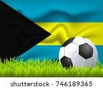the bahamas flag and soccer ball | Shutterstock .eps vector #746189365