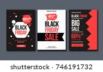 black friday sale design... | Shutterstock .eps vector #746191732
