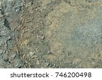 rusted painted metal wall....   Shutterstock . vector #746200498