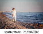 portrait of a stylish...   Shutterstock . vector #746202802