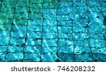 water in the swimming pool | Shutterstock . vector #746208232