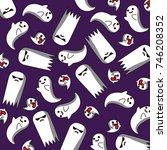 ghost trick pattern | Shutterstock .eps vector #746208352