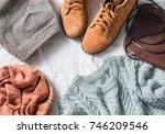 women's clothing set   skirt ... | Shutterstock . vector #746209546