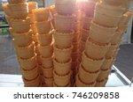 ice cream cornets | Shutterstock . vector #746209858