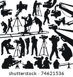 silhouettes of cameramen and... | Shutterstock .eps vector #74621536
