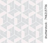 gray and pink geometric pattern ... | Shutterstock .eps vector #746215756