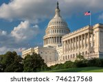 washington dc  us capitol... | Shutterstock . vector #746217568