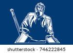 ice hockey goalie. | Shutterstock .eps vector #746222845