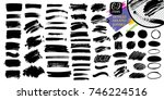 vector black paint  ink brush... | Shutterstock .eps vector #746224516