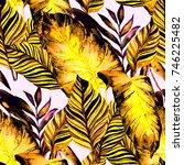 watercolor seamless pattern... | Shutterstock . vector #746225482