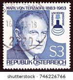 austria   circa 1983  a stamp... | Shutterstock . vector #746226766