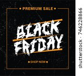 black friday sale template.... | Shutterstock .eps vector #746228866