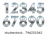 set of metal numbers.vector... | Shutterstock .eps vector #746231362