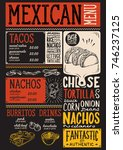 mexican menu for restaurant and ... | Shutterstock .eps vector #746237125