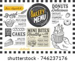 bakery dessert menu for... | Shutterstock .eps vector #746237176