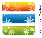 floral website banner set in... | Shutterstock .eps vector #74623762