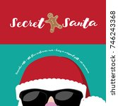 cartoon secret santa christmas... | Shutterstock .eps vector #746243368