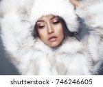 fashion studio portrait of...   Shutterstock . vector #746246605