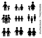 vector set of people social... | Shutterstock .eps vector #746246686