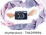 autumn composition. retro...   Shutterstock . vector #746249896