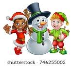 Christmas Snowman And Elf...