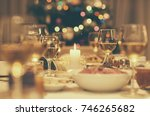 dining table full of a variety...   Shutterstock . vector #746265682