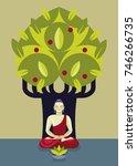 siddharta buddha  founder of... | Shutterstock .eps vector #746266735