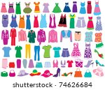 fashion | Shutterstock .eps vector #74626684