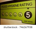 very good food hygiene rating... | Shutterstock . vector #746267938