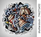 cartoon vector doodles winter
