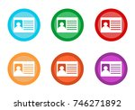 set of rounded colorful buttons ...   Shutterstock . vector #746271892