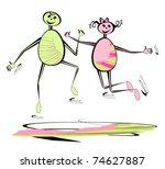 kids playing. children hand...   Shutterstock .eps vector #74627887