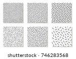 collection of seamless  memphis ... | Shutterstock .eps vector #746283568