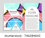 abstract vector layout... | Shutterstock .eps vector #746284642