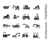construction vehicle icon set.... | Shutterstock .eps vector #746289562