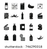 garbage icon set. simple set of ... | Shutterstock .eps vector #746290318