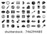 food icon set. simple set of...