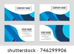 abstract vector layout... | Shutterstock .eps vector #746299906