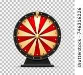 wheel of fortune 3d object | Shutterstock .eps vector #746316226