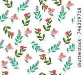 floral seamless pattern | Shutterstock .eps vector #746319718
