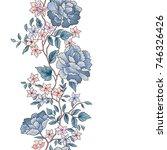 floral seamless pattern. flower ... | Shutterstock .eps vector #746326426