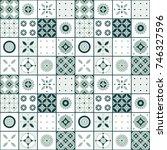 seamless vector tile pattern... | Shutterstock .eps vector #746327596