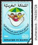 morocco   circa 1984  a stamp... | Shutterstock . vector #746330728