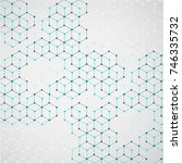 molecular structure with... | Shutterstock .eps vector #746335732