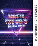 the poster in vintage style on... | Shutterstock .eps vector #746342632