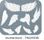 white wings | Shutterstock .eps vector #74634538