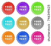 round stickers or website... | Shutterstock .eps vector #746349625